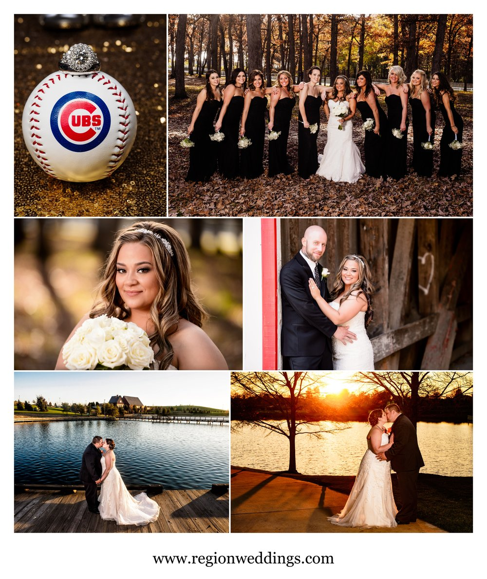 Fall wedding photos in Northwest Indiana in 2016.