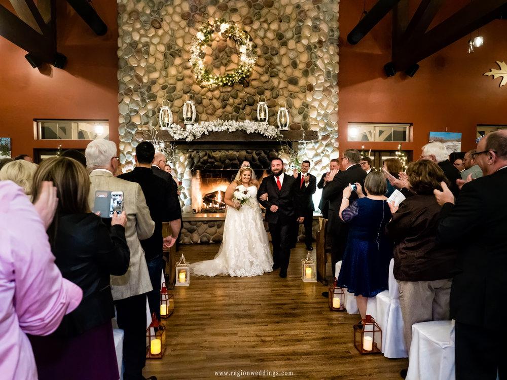 Just married at Fair Oaks Farmhouse.