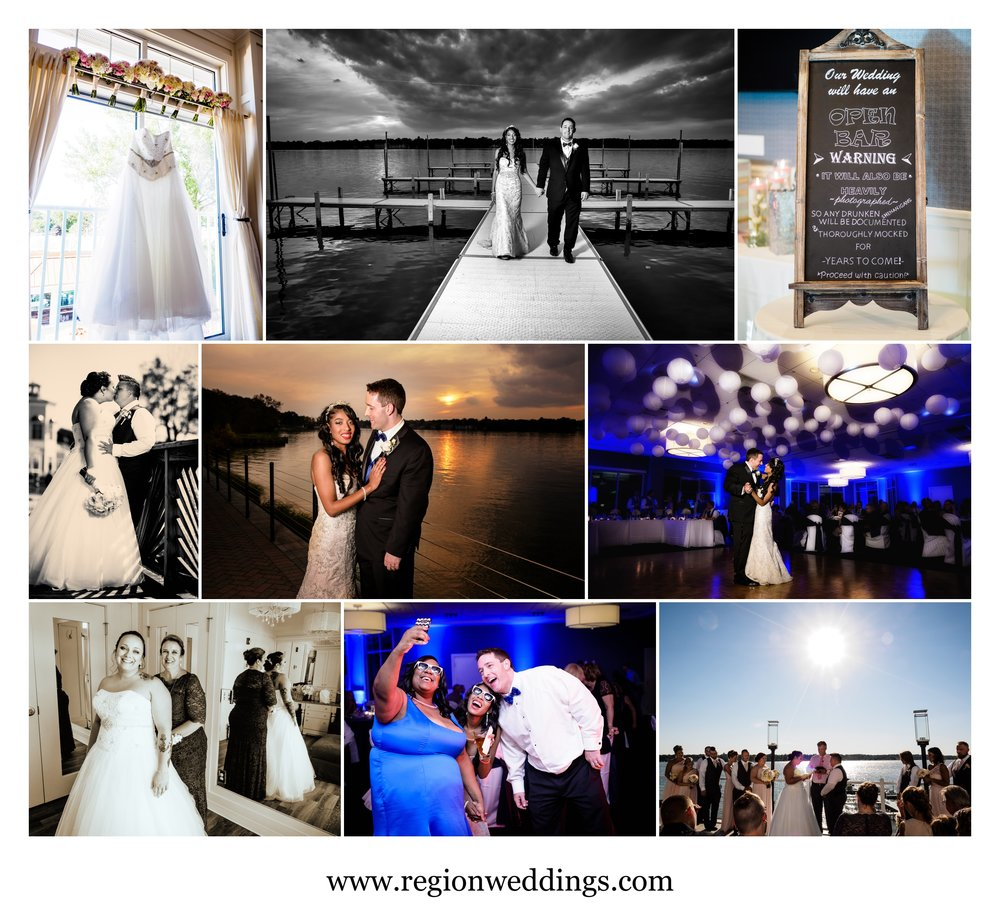 Wedding photos from Lighthouse Restaurant in Cedar Lake, Indiana.