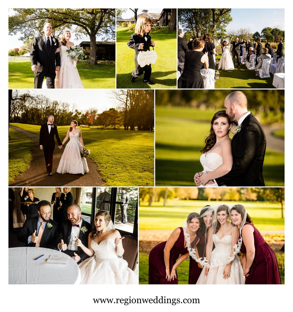 Wedding photos at Briar Ridge Country Club.
