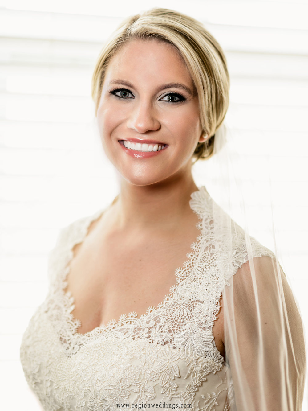 Portrait of the bride on her big day.