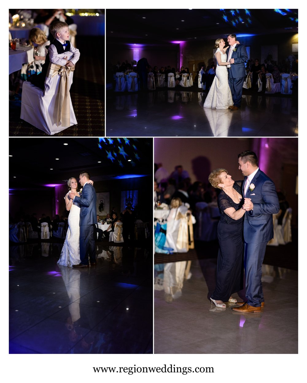 First dances at Villa Cesare in Schererville, Indiana.