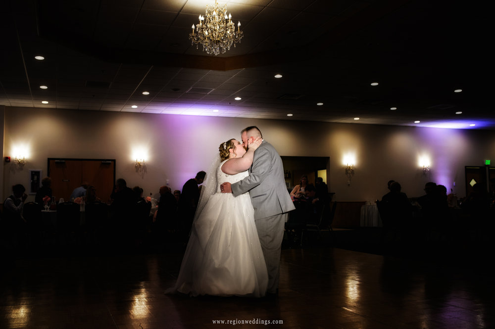 First dance for the bride and groom at their Spring wedding at The Patrician.