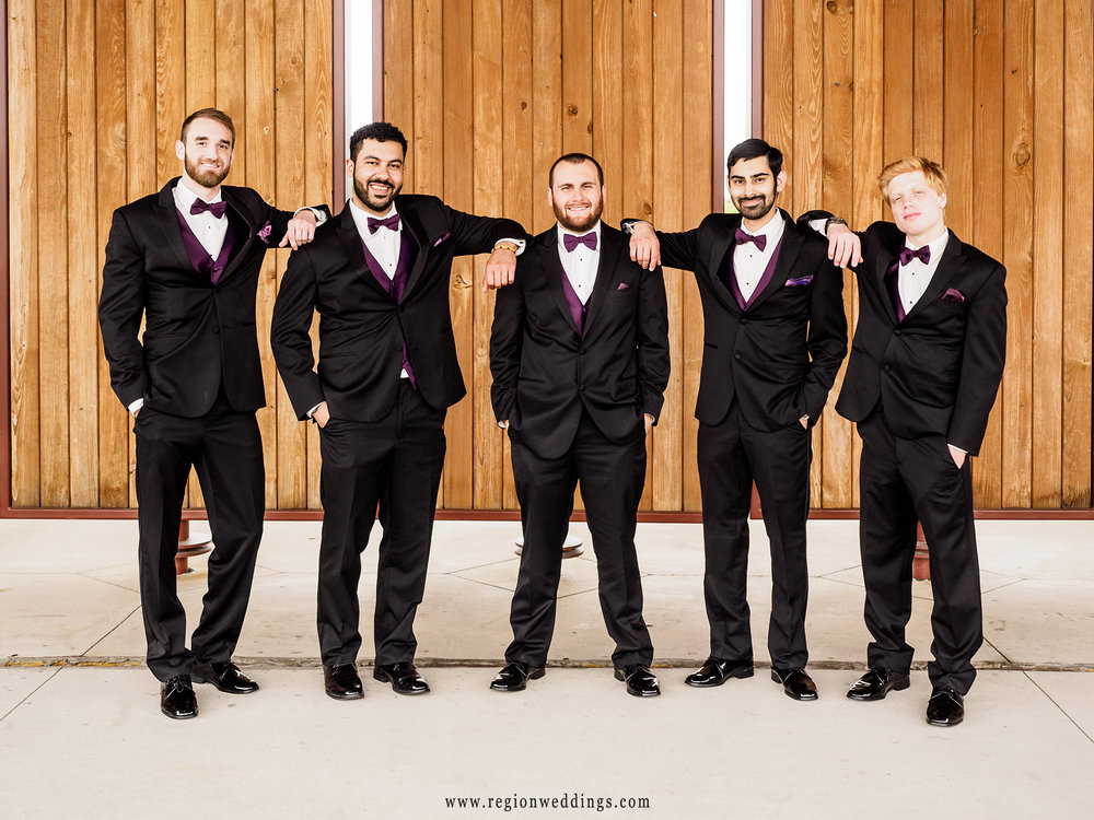 Lean On Me - the groomsmen at Centennial Park.