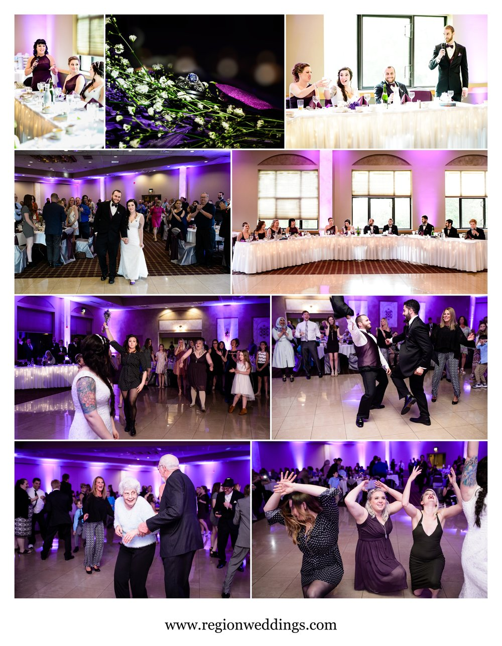 Spring wedding reception at Villa Cesare in Schererville, Indiana.