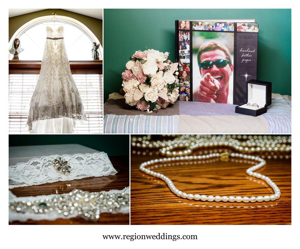 Bridal prep details.