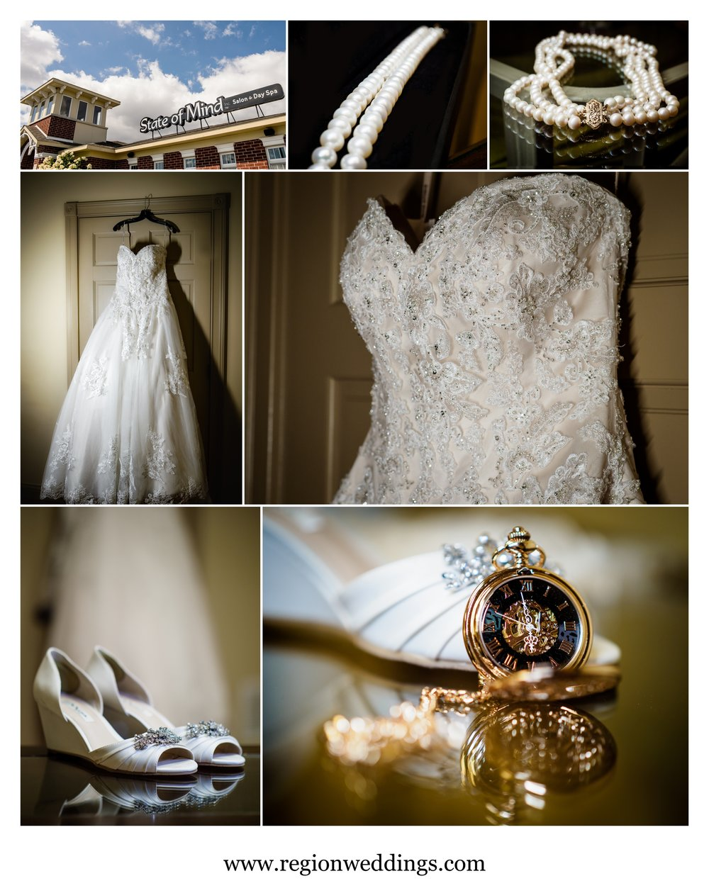 Vintage glamour wedding day accessories.