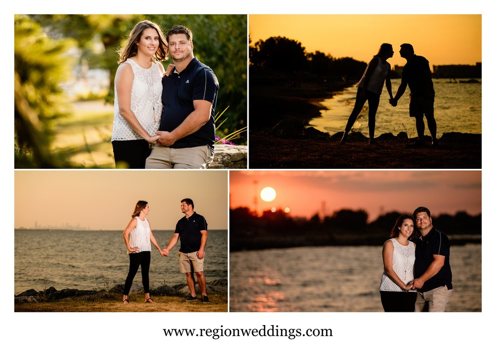 Sunset portraits at Whihala Beach in Whiting, Indiana.