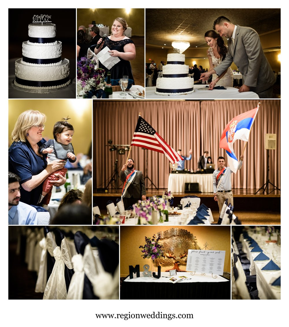Wedding reception at the Serbian Social Center in Lansing, Illinois.