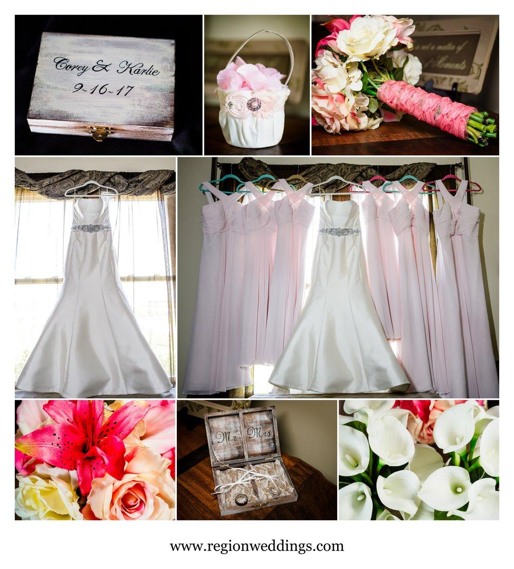 Wedding details at Meadow Springs Manor.