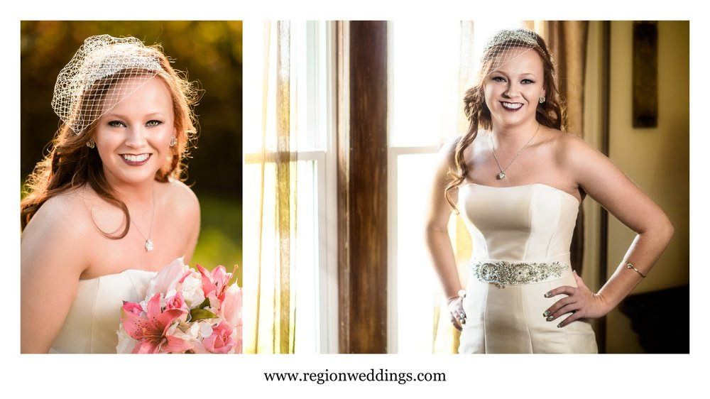 A September bride at Meadow Springs Manor.