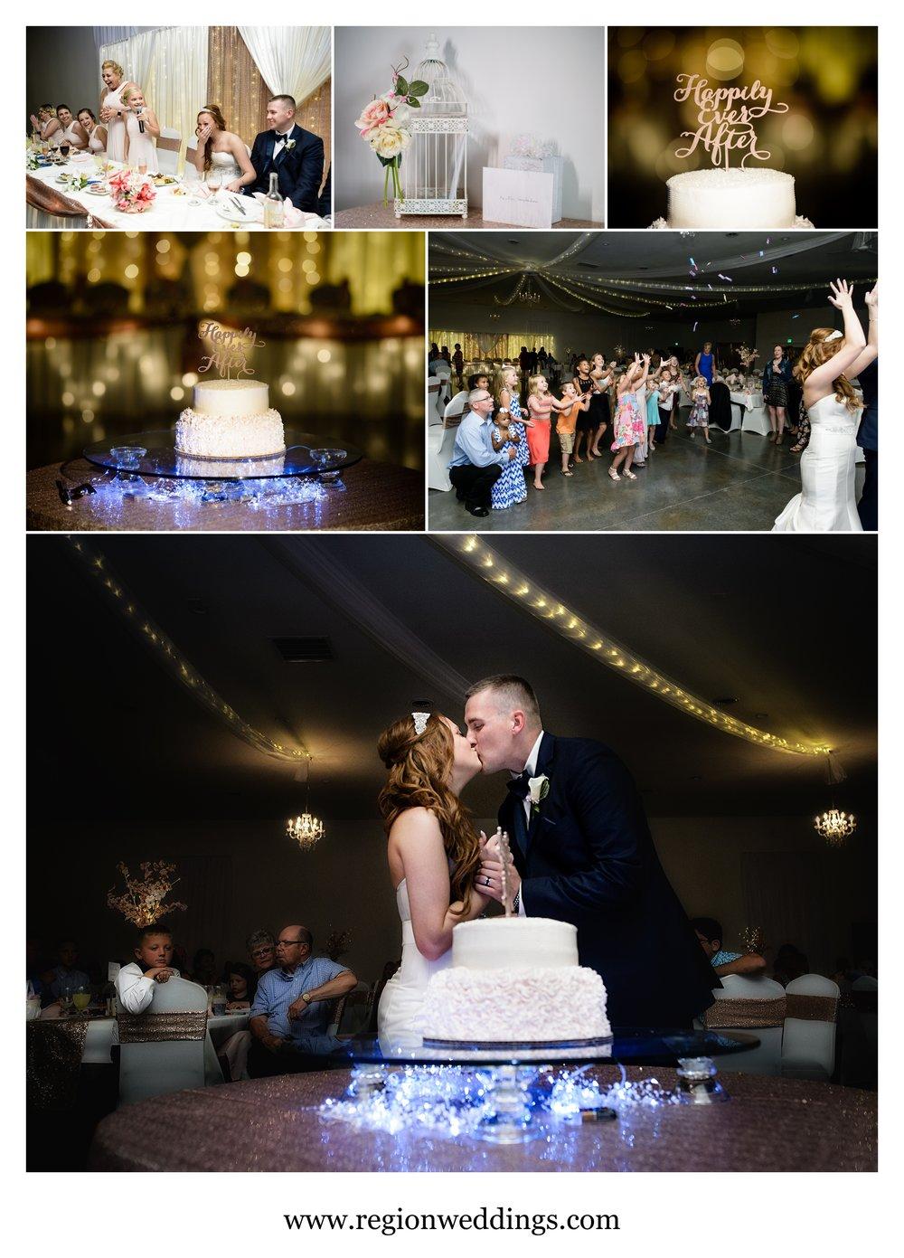 Wedding reception at Meadow Springs Manor.