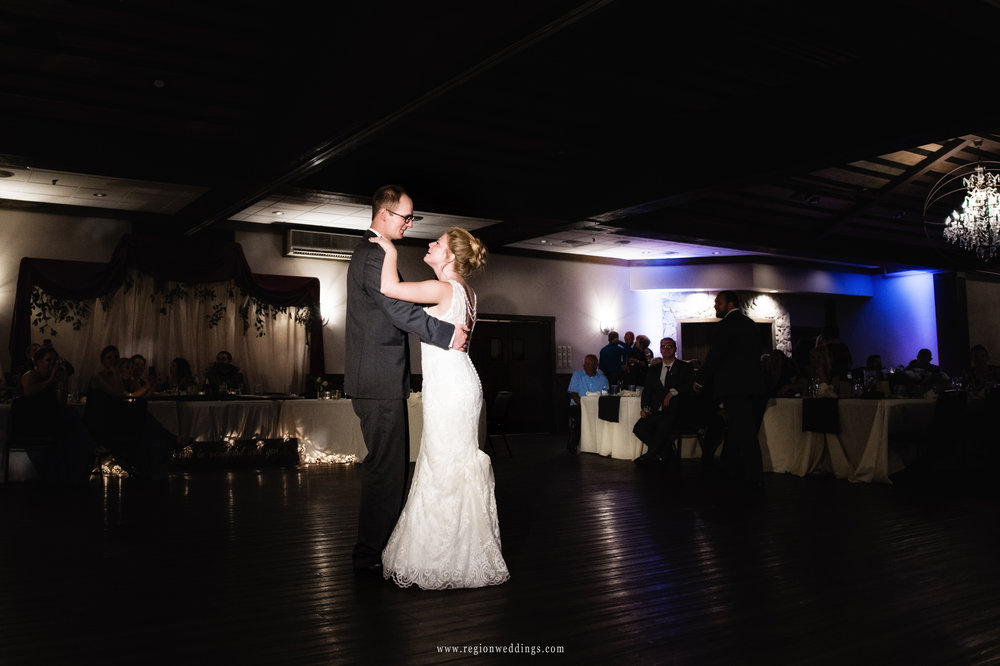 First dance for the bride and groom at The Market in Valparaiso, Indiana.