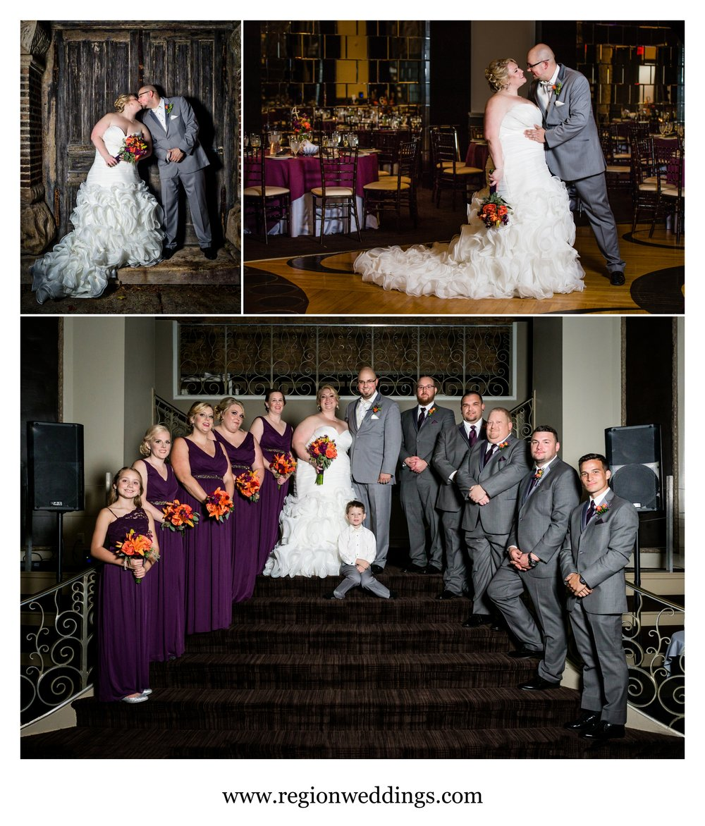 Wedding photos at The Allure in Laporte, Indiana.