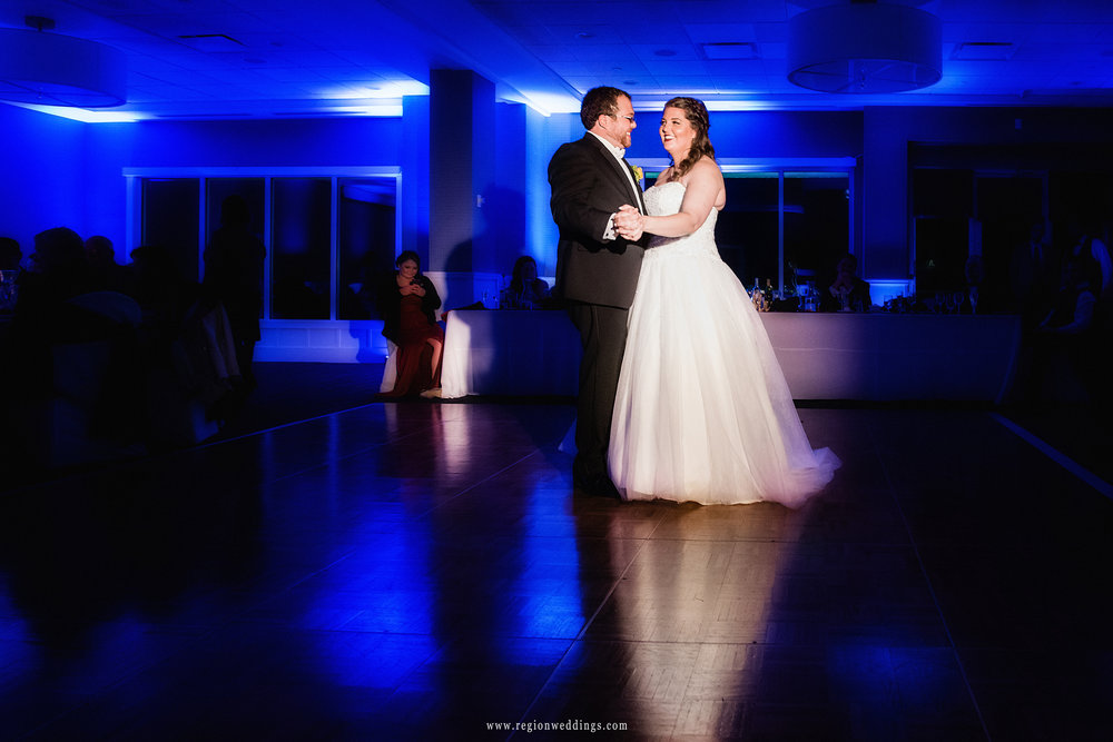 First dance for the bride and groom at Lighthouse Restaurant.