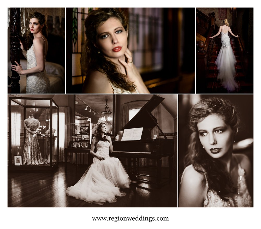Bridal portraits at Barker Mansion.