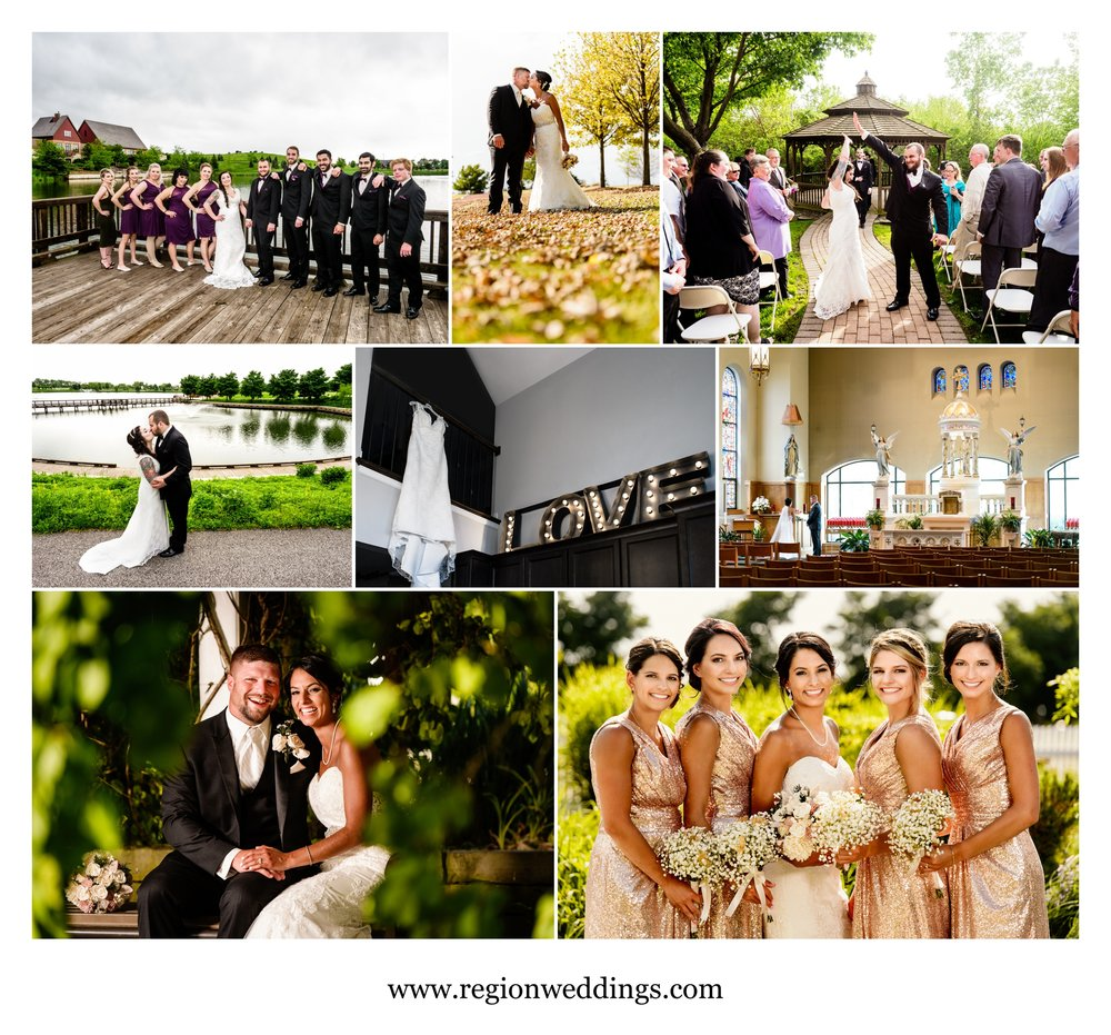 High fives, neon love, sisters / bridesmaids and church wedding ceremonies.