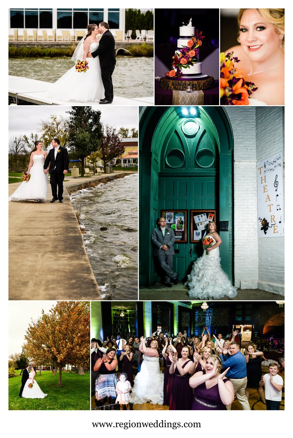 Fall weddings at Lighthouse Restaurant and The Allure.