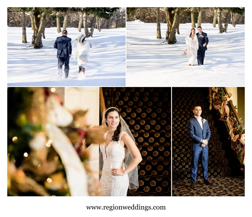 Winter wedding in Northwest Indiana.