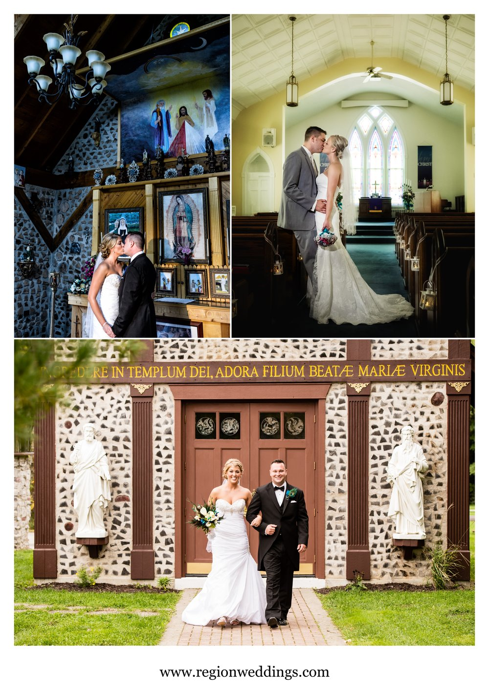 Beautiful married couples at their wonderful churches.