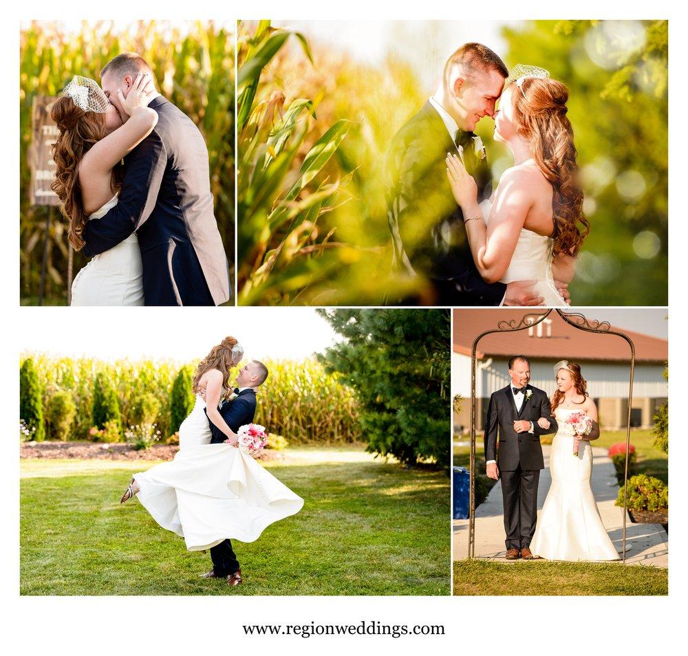 Outdoor wedding at Meadow Springs Manor.