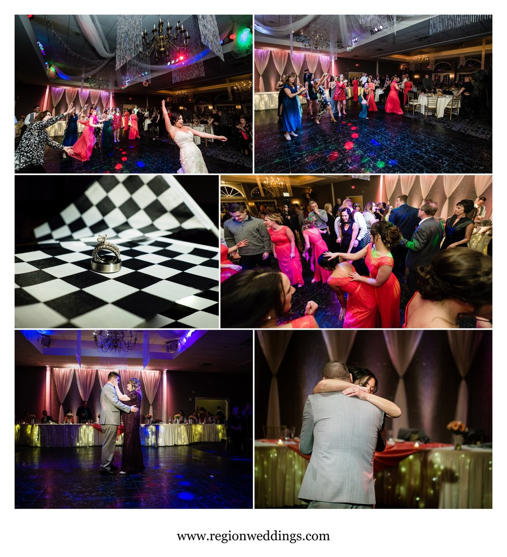 A rocking Spring wedding reception at Aberdeen Manor and Ballroom.
