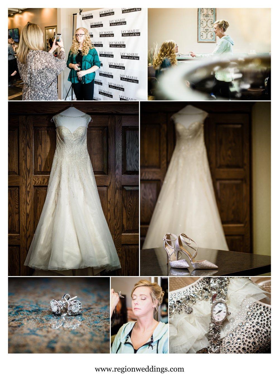 Bridal prep at Jay Marie Salon and Briar Ridge.