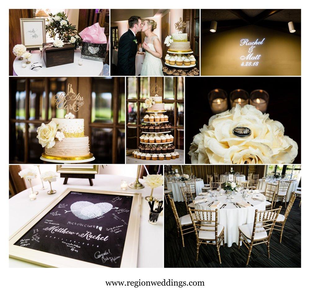 Wedding reception decor at Briar Ridge Country Club.