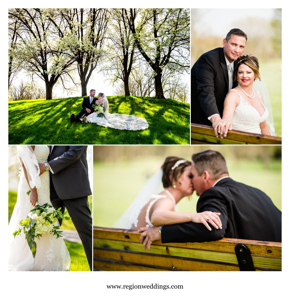 Wedding pictures at Briar Ridge in Schererville, Indiana.