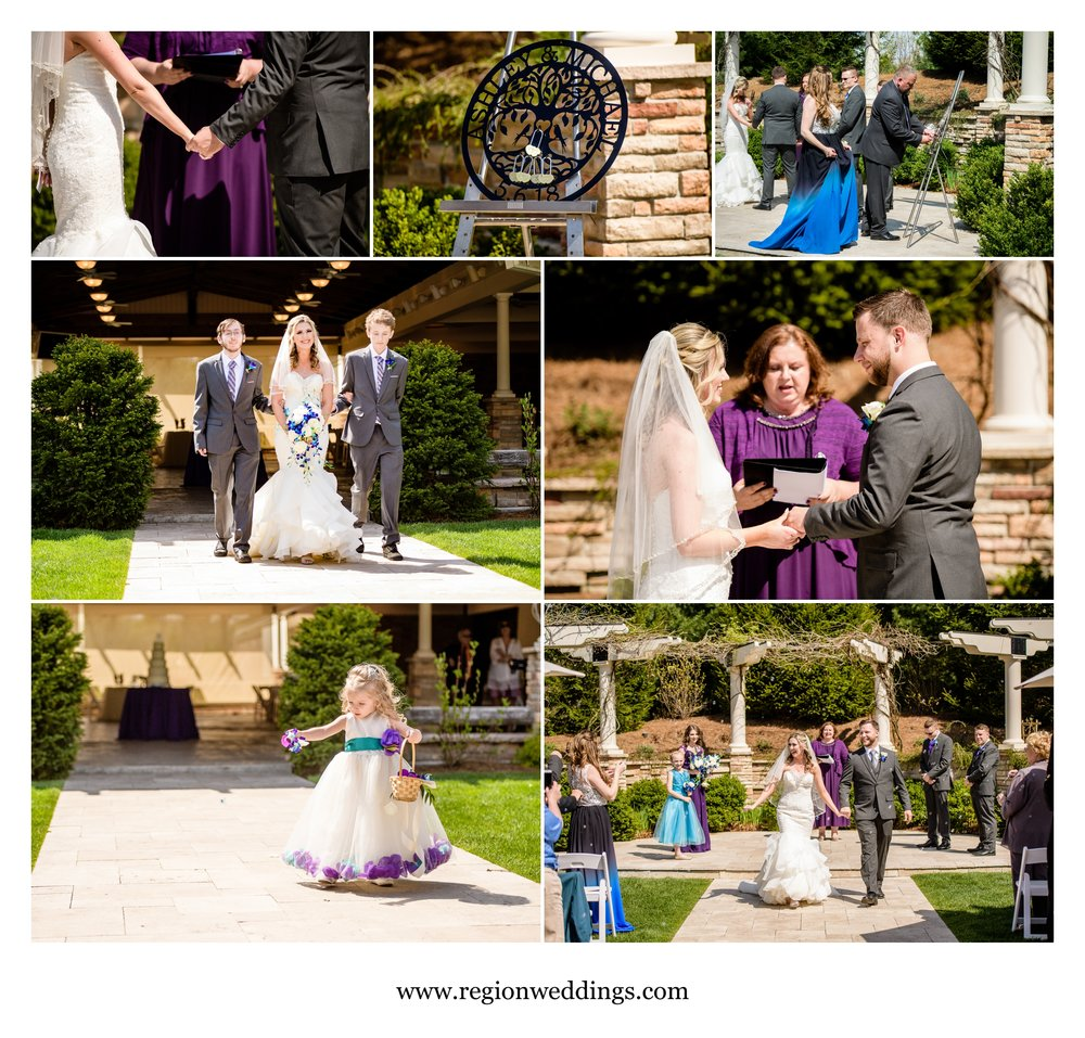 Outdoor Spring ceremony at The Pavilion at Sandy Pines.