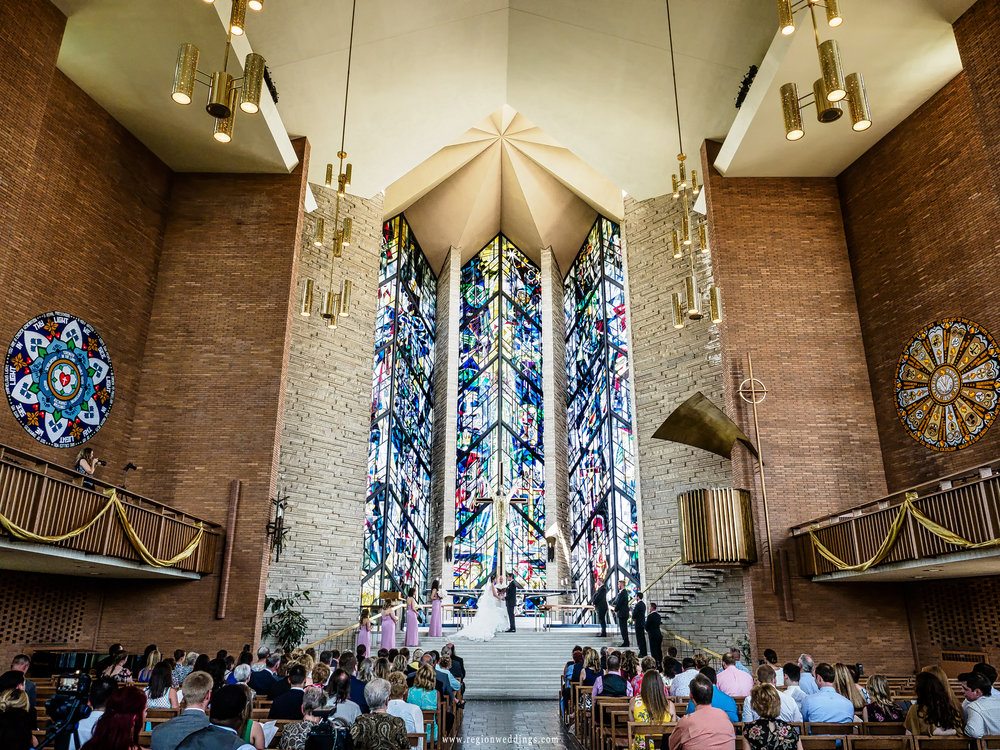 Wedding ceremony at Chapel of the Resurrection at Valparaiso University.