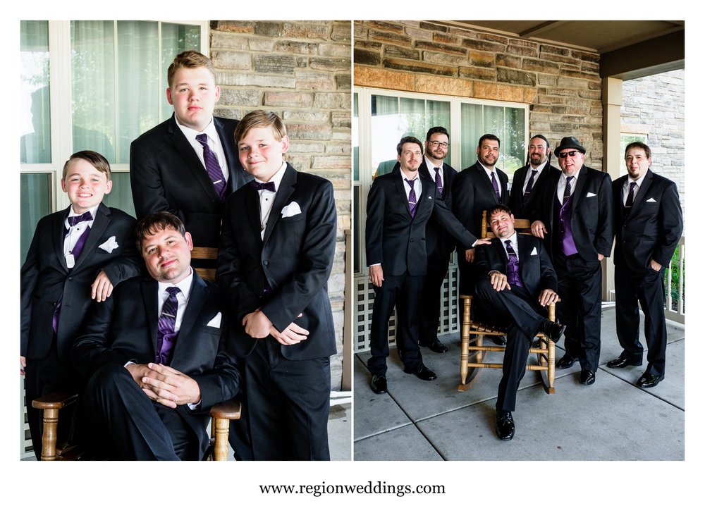 The groom and his guys before a wedding at Marquette Park Pavilion.