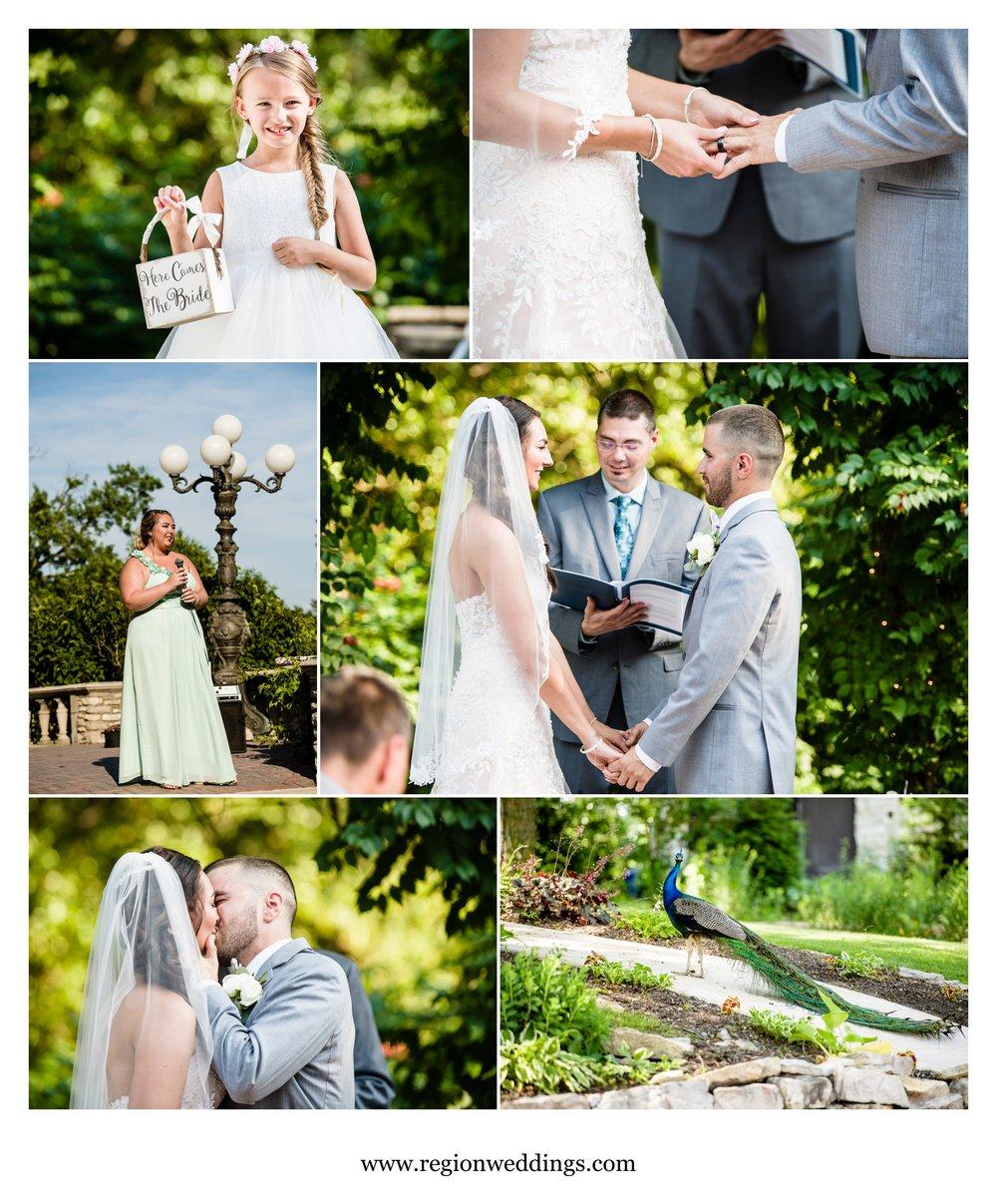 June wedding ceremony at Meyer's Castle.