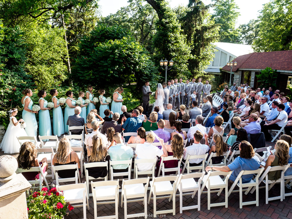 Outdoor ceremony on the castle terrace.