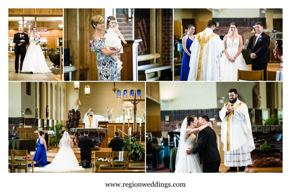 Summer wedding ceremony at St. Michael's Parish.