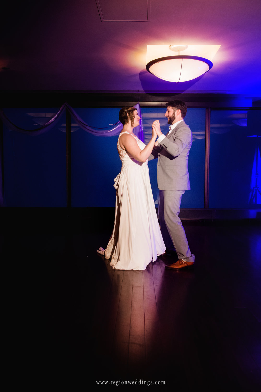 First dance for the bride and groom at The Signature Room.