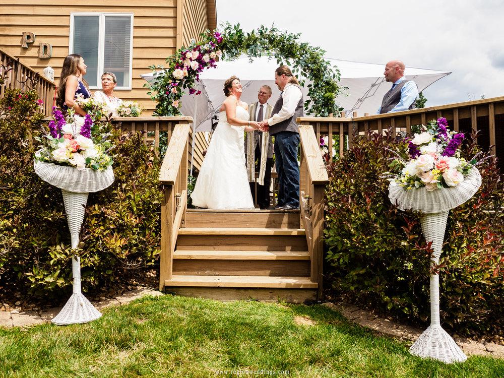 A wonderful backyard wedding ceremony.