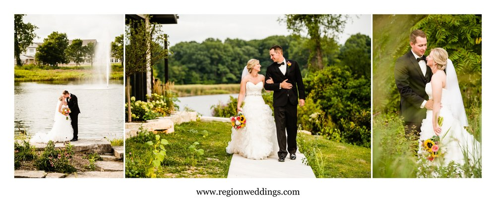 Wedding photos at Coffee Creek and The Allure On The Lake in Chesterton, Indiana.