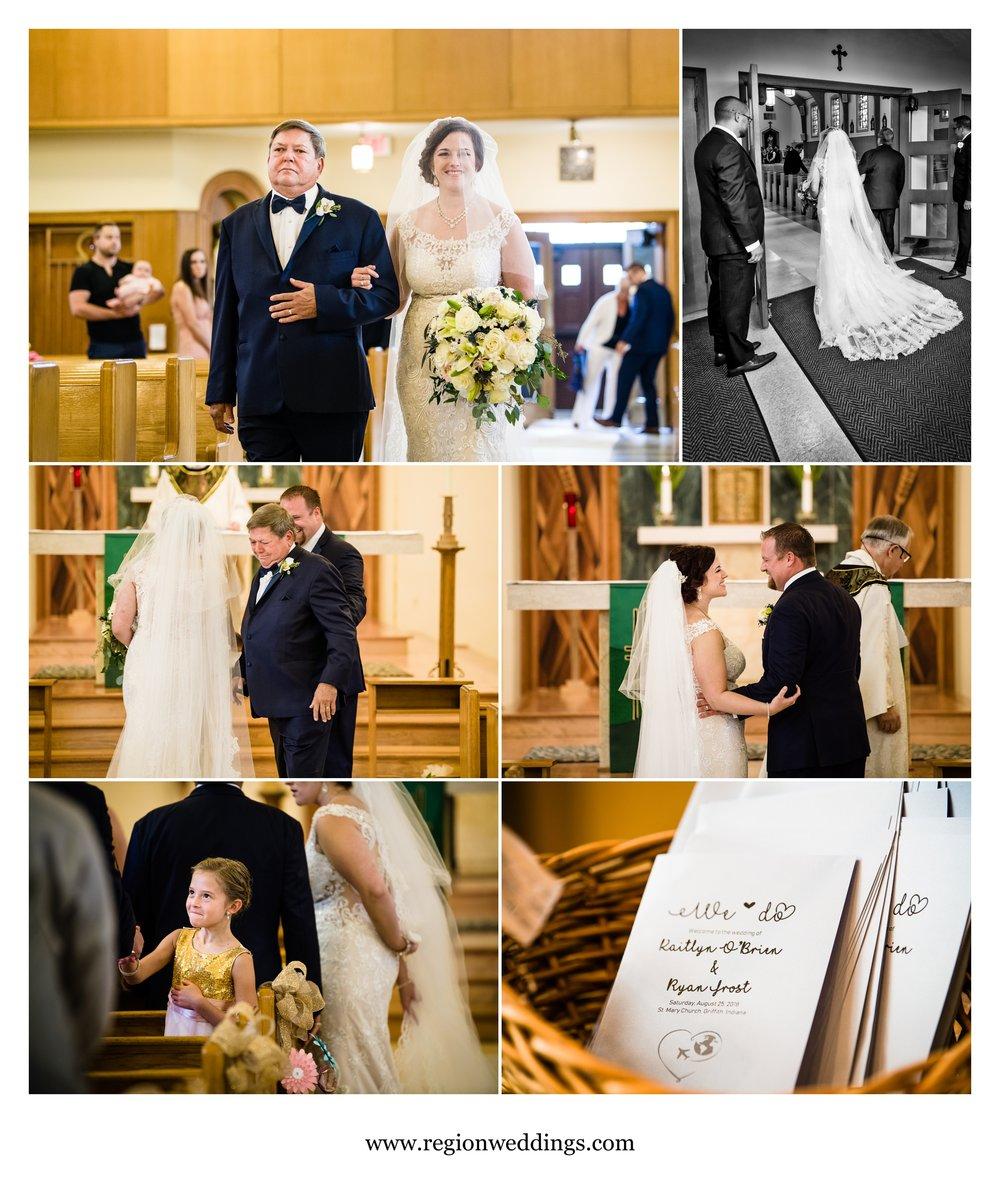Wedding ceremony at Saint Mary Catholic Church.