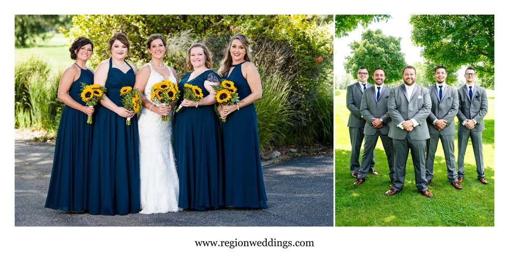 Bridesmaids and groomsmen at Briar Ridge.