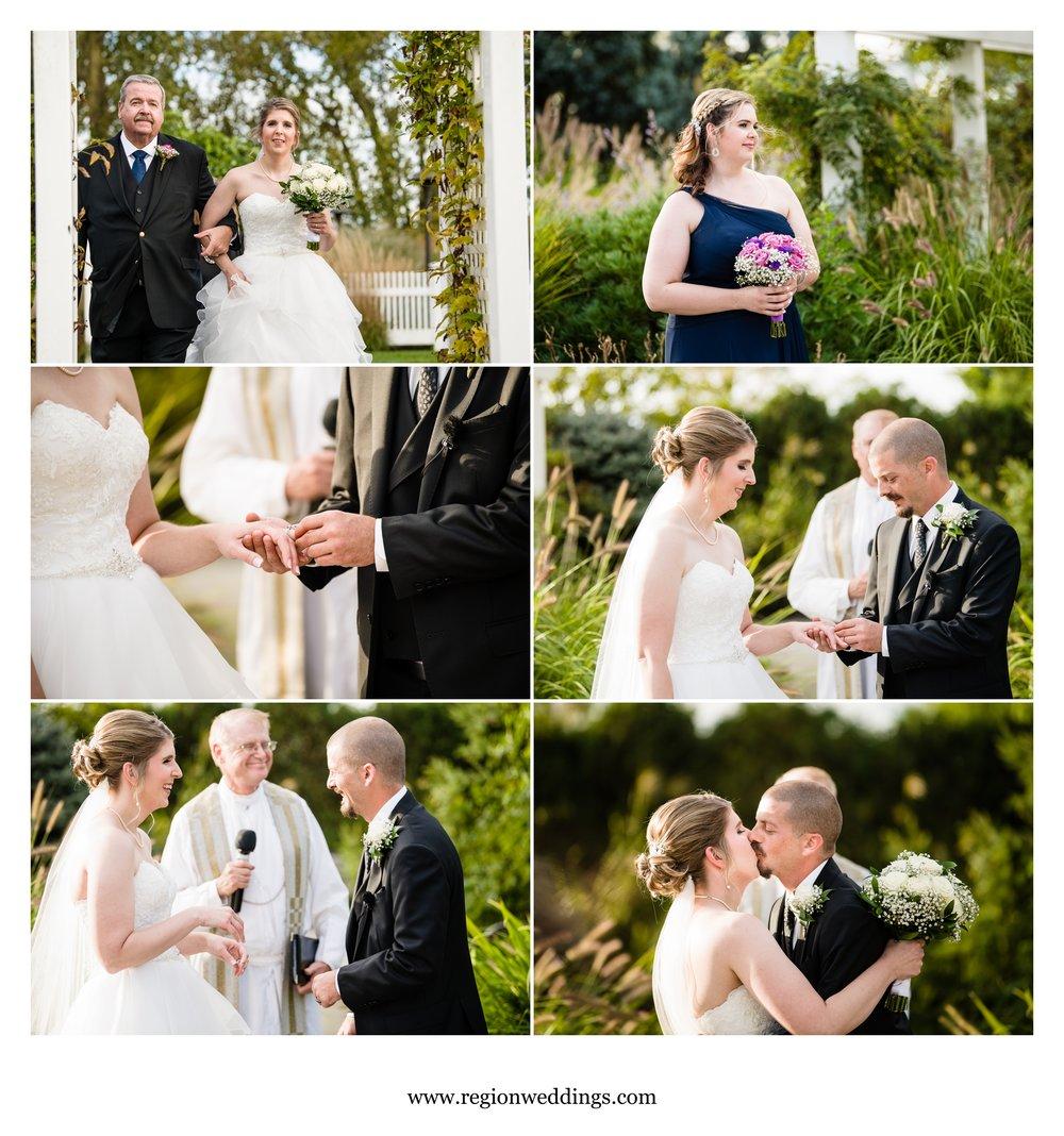 Wedding ceremony in the north garden of Centennial Park.