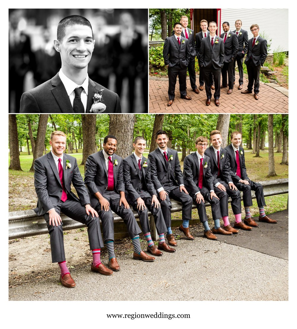 Groomsmen photos at Lake County Fairgrounds.