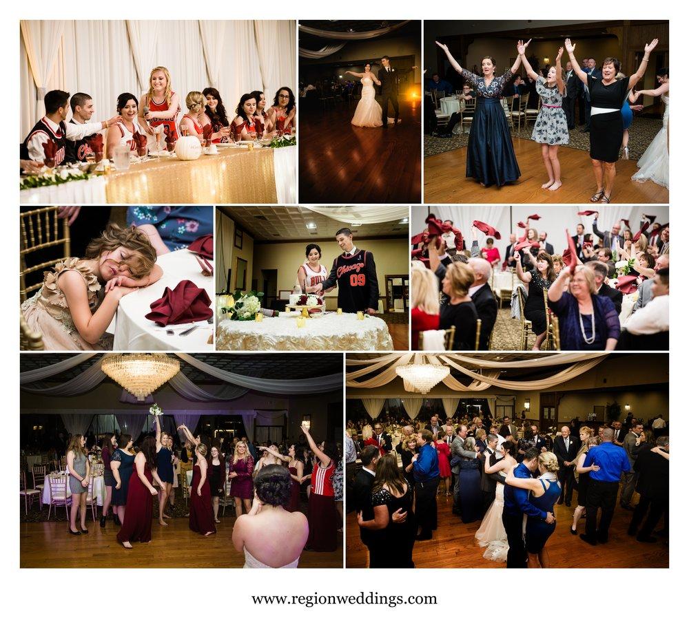 Wedding reception fun.
