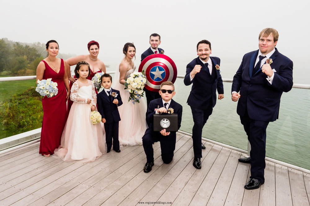 The crime fighting wedding party.