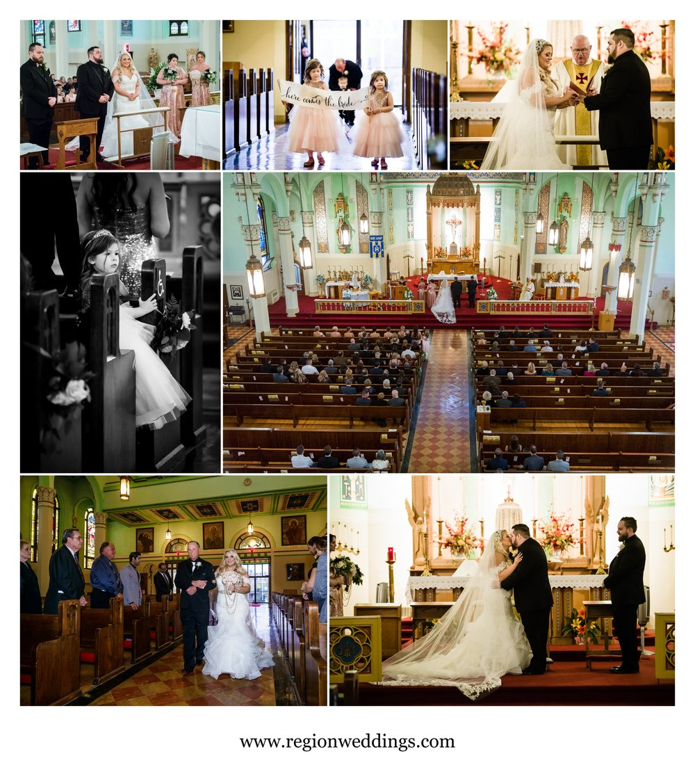 Wedding ceremony at St. Stanislaus Church.
