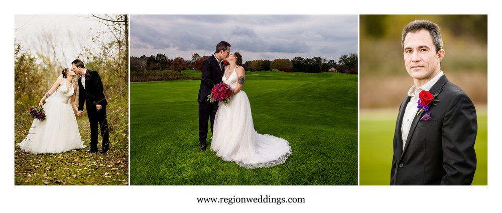 Wedding portraits at Sand Creek Country Club.