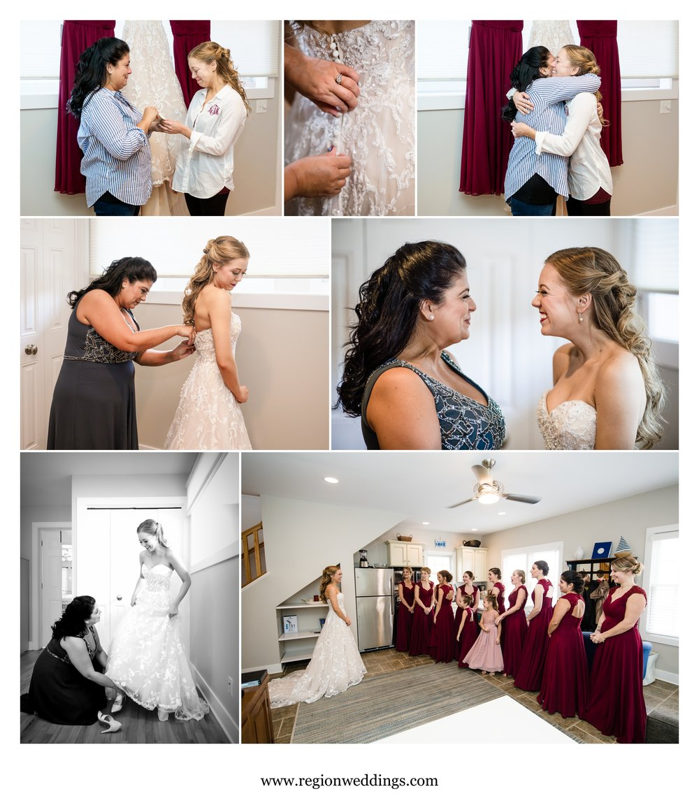 Wonderful moments during bridal prep.