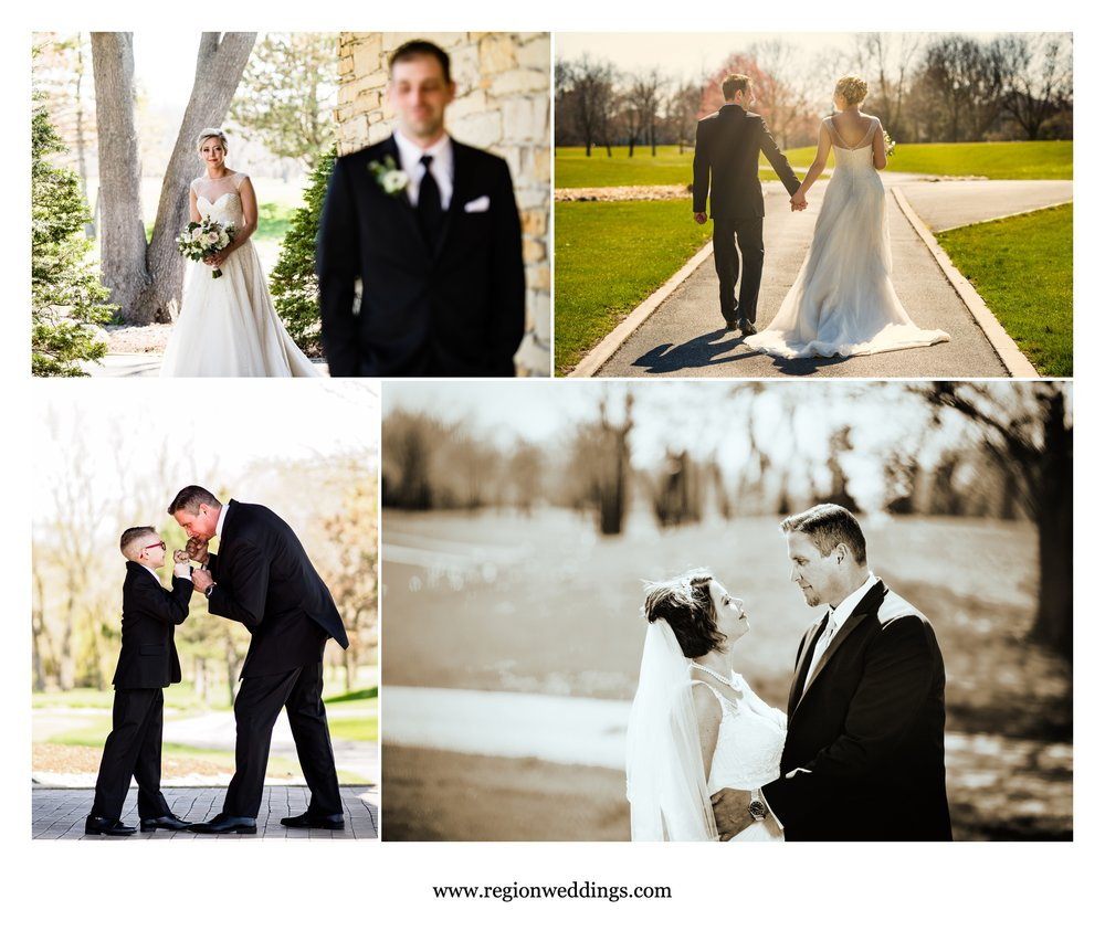 Two Spring weddings at Briar Ridge Country Club in Dyer, Indiana.