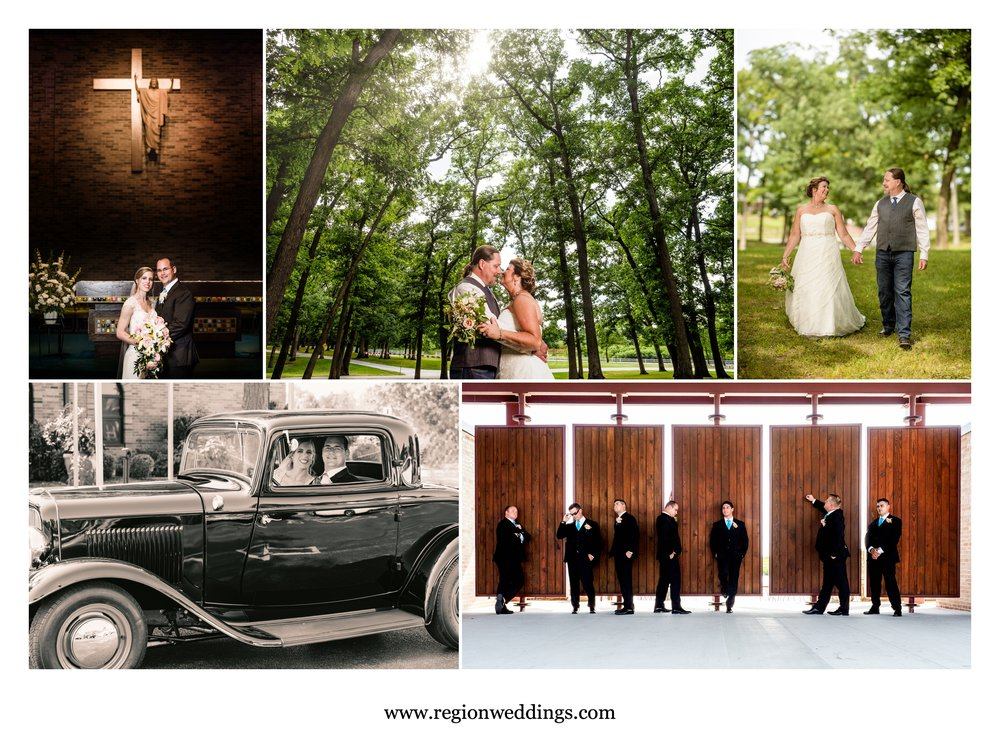 Summer weddings in Northwest Indiana during August of 2018.