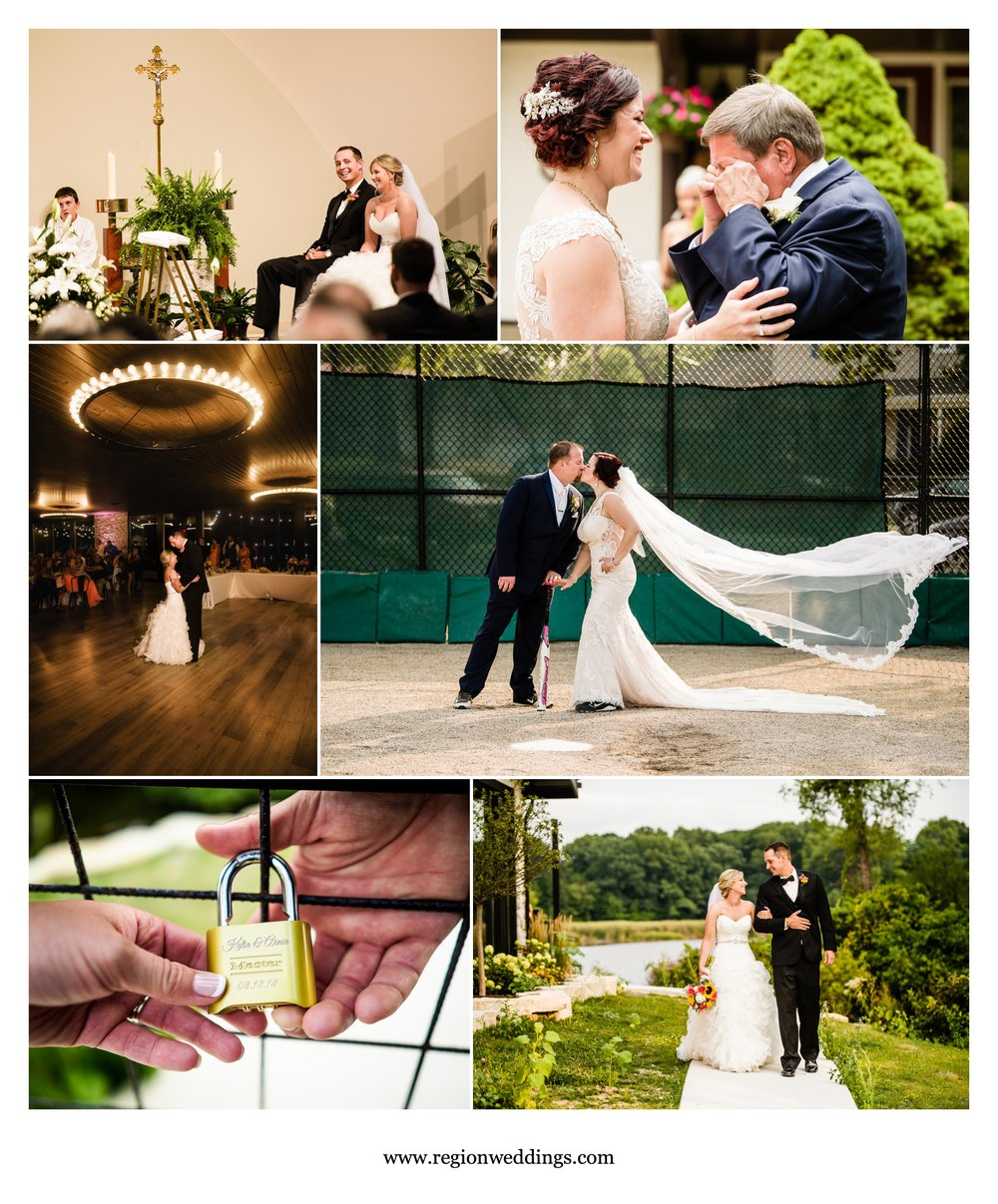 August weddings at St. Mary's Catholic Church, St. Paul's Catholic Church and Allure on The Lake.